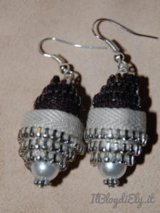 orecchini fatti a mano realizzati con cerniere