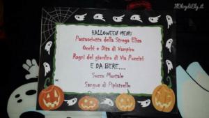 menù per la festa di halloween