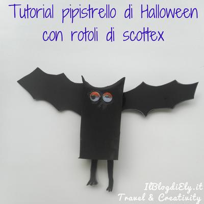 Tutorial pipistrello di Halloween con rotoli di scottex