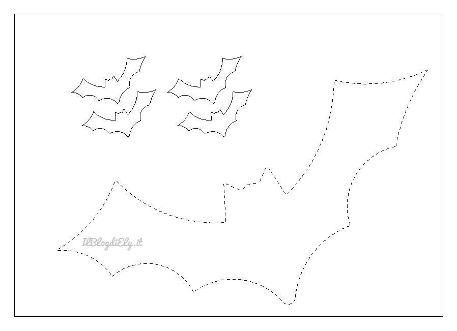 Pipistrelli Di Halloween Da Colorare.Pipistrelli Di Halloween Da Stampare E Colorare E Ritagliare