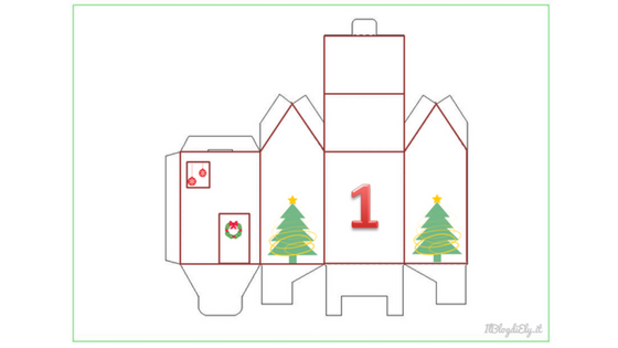 calendario avvento da stampare per bambini