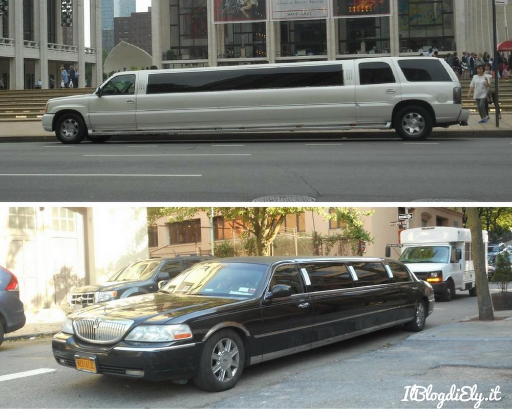 fotografie di una bambina a new york limousine