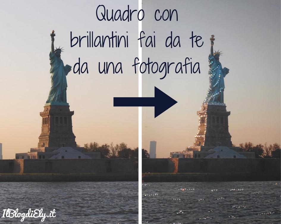Pareti Glitterate Fai Da Te : Quadro con brillantini fai da te da una fotografia di viaggio