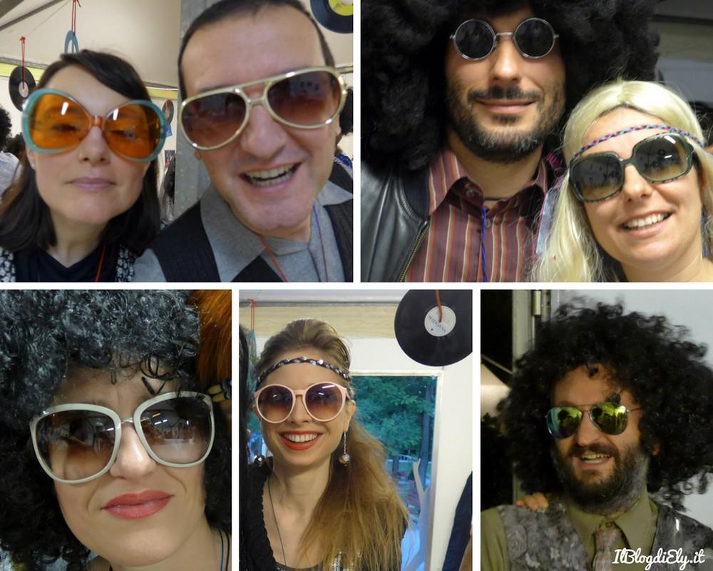 consigli per accessori per festa anni 70 occhiali