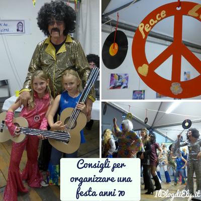 organizzare festa a tema anni 70