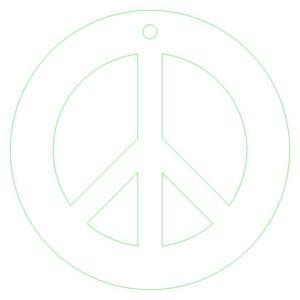 simbolo pace da stampare