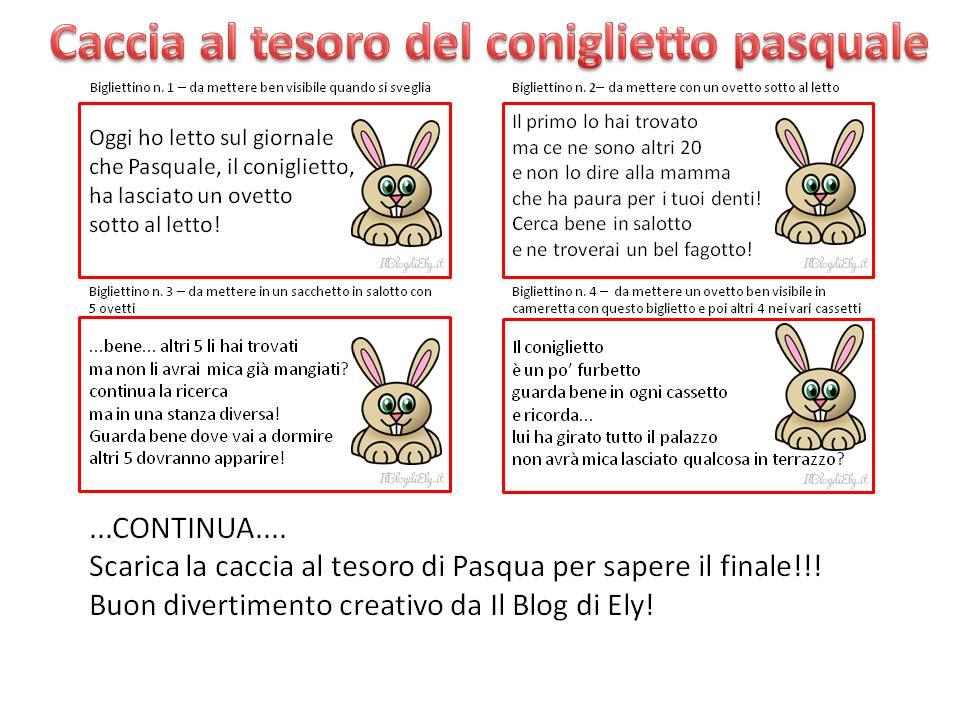 Favoloso Caccia al tesoro di Pasqua da scaricare e stampare per bambini HS21