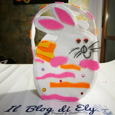 cestino porta uova di pasqua di feltro
