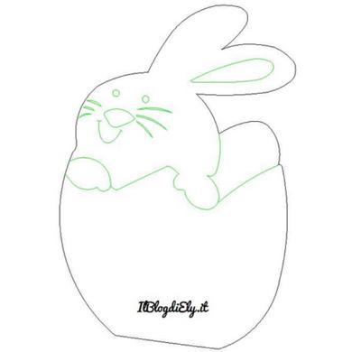 coniglietto pasquale da stampare e colorare