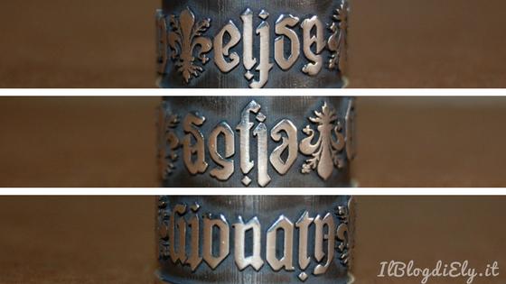 anello con ambigramma il blog di ely