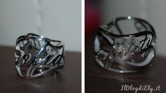 anello personalizzato infinity