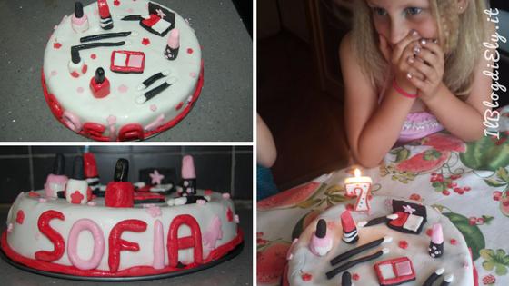 compleanno originale per bambina torta beauty party