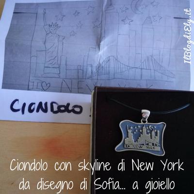 ciondolo skyline new york da disegno a gioiello