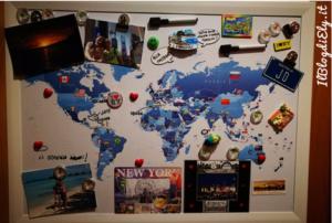 mappa magnetica per tracciare viaggi