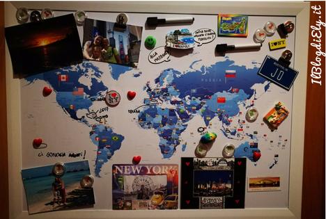 Cartina Mondo Per Viaggi.Mappa Magnetica Per Tracciare Viaggi E Scrivere I Prossimi Itinerari