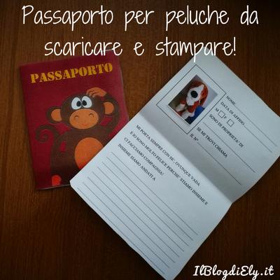 Passaporto per peluche da scaricare e stampare