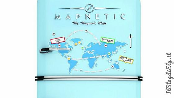 mappa magnetica frigorifero viaggi