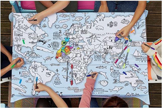 Cartina Geografica Per Segnare Luoghi Visitati.Mappa Magnetica Per Tracciare Viaggi E Scrivere I Prossimi Itinerari