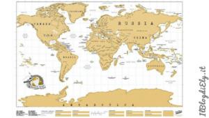 mappa scratch per segnare viaggi