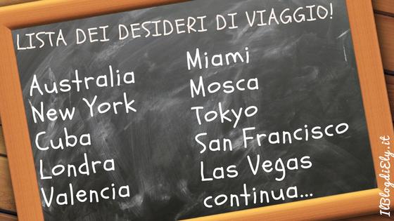 lista dei desideri di viaggio