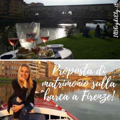 proposta di matrimonio sulla barca a Firenze