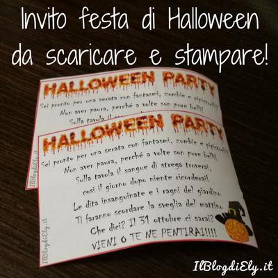 Invito festa di Halloween da scaricare e stampare