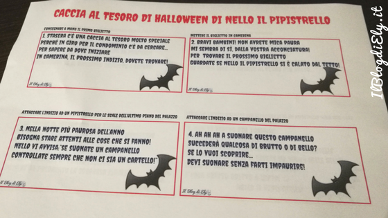 caccia al tesoro di halloween da scaricare e stampare per bambini
