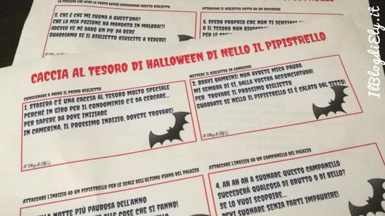 caccia al tesoro di halloween da scaricare e stampare