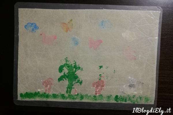 tovaglietta fai da te con disegni bambini