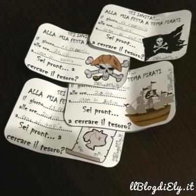 invito per festa a tema pirati da scaricare e stampare