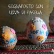 segnaposto con uova di pasqua con feltro e brillantini