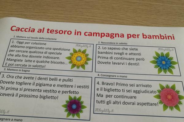 Caccia Al Tesoro Bambini 3 Anni : Caccia al tesoro in campagna per bambini da scaricare e stampare